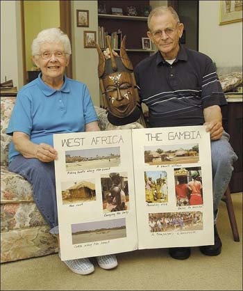 Jean and Jerry Tennis were Peace Corps Volunteers in the Gambia