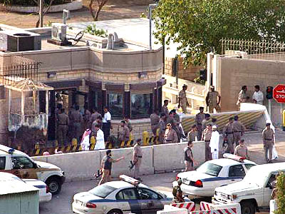 Nine people died Monday in an armed attack on the U.S. Consulate in Jiddah, Saudi Arabia, as Islamic radicals ended six months of relative calm in the desert kingdom with a new multiple-casualty assault on a Western target