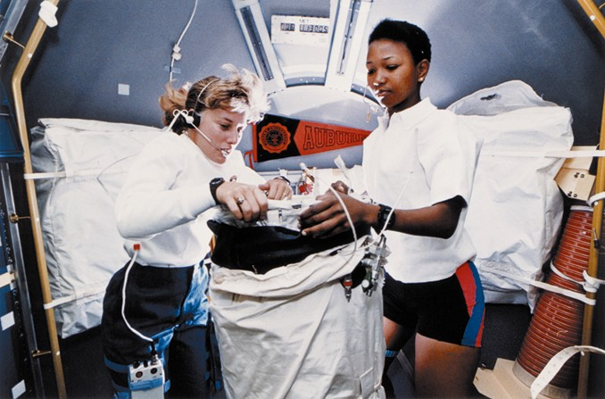 Photos of Mae Jemison preparing for her flight on STS-47
