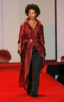 Mae Jemison wears red for charity as NY fashion week opens 8 days of previews