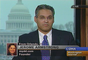Costa Rica and Sierra Leone RPCV Jerome Armstrong is a political consultant who introduced Democrats to the Net
