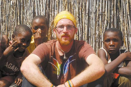 As a Peace Corps volunteer, Jesse Lamarre-Vincent trains youth in Namibia as peer health educators and has created after-school programs emphasizing the arts