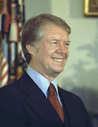 Jimmy Carter said his mother's service in the Peace Corps as a nurse when she was 70 years old was one of the most glorious experiences of her life.