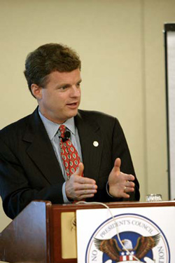 Today's college graduates were freshmen on Sept. 11, 2001, when terrorists flew airplanes into the World Trade Center in New York and the Pentagon in Washington, D.C., and post-9/11 grads have shown a greater interest in public-service careers, said John Bridgeland, former director of the White House Domestic Policy Council under Bush