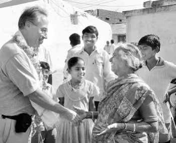 John Henry Stone returns to a rousing reception in village of Alagadapa  in India