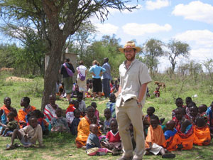 I was feeling really negative about being in America, the war and the presidency, so I wanted to get out and see an alternative, says Kenya Peace Corps Volunteer John Teschner