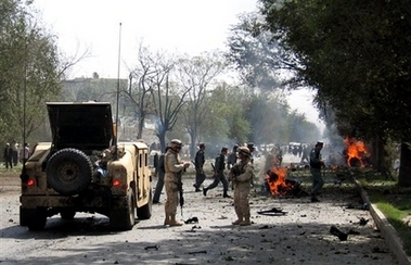 Two US Soldiers killed in massive suicide car bomb blast