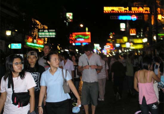 Peace Corps Volunteer Kevin writes:  We just had one awful night in Bangkok