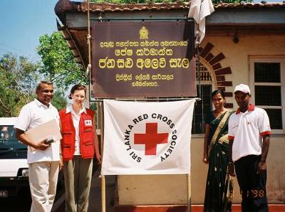 RPCV Kelly Hurd of the American Red Cross of Alaska,  was deployed to Galle, Sri Lanka, to help coordinate distribution of relief supplies to villages affected by the Dec. 26 tsunami in Southeast Asia
