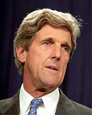 Sen. John F. Kerry waded into a battle with the Peace Corps on the heels of a Washington Post article that said the international agency has barred HIV-positive workers from its ranks