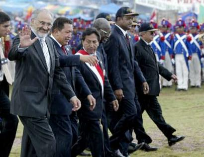Today we have a new country with 361 million inhabitants, Peruvian President Alejandro Toledo said in welcoming seven presidents to the historic summit. The South American Community of Nations which is born today should help us to confront the challenges of globalisation so that it is fairer, more equitable