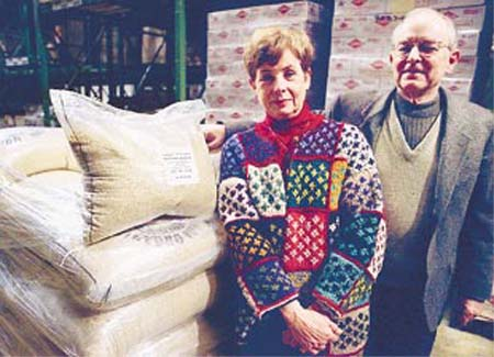 Ecuador RPCV Bob and Midge  Leventry import organic quinoa