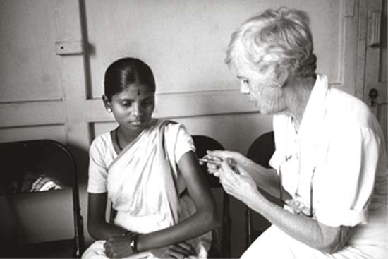 Selecting India for Habitat for Humanity was a natural for President Carter, whose mother Lillian Carter, known and beloved by many, joined the Peace Corps when she was 67 and traveled to India to work with the people there. In her own words, Miss Lillian was just taking the Corps advertising campaign at face value � �age is no barrier.�