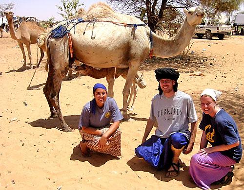 Adriana Publico, Luke Filose, Annika Dubrall serve in Mauritania