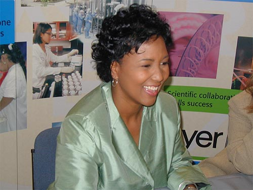 Five years ago, Mae Jemison came to Clayton to promote the launch of a partnership between Bayer Healthcare and Johnston County Schools to teach a new hands-on science program in four of the district&#39;s elementary schools. She returned Wednesday, when the pharmaceutical company gave Johnston schools the largest of its five yearly grants -- $50,000 -- to expand the program to all 19 Johnston elementary schools.