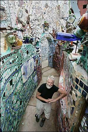Isaiah Zagar's mosaics have turned a South Street lot into a glittering, multilevel labyrinth. And the artist has turned the corner on fund-raising to preserve it.
