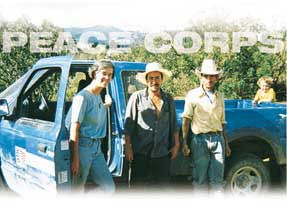 Mechanical engineer and Peace Corps volunteer Margaret Meany with residents of a Honduran community to which she helped bring clean water