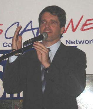 Delegate Mark Shriver leads Senator Chris Van Hollen by one slim point in the four-way race to challenge Congresswoman Connie Morella this fall