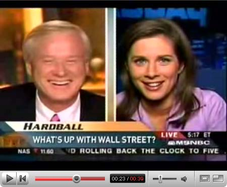 Karen Russell says Chris Matthews  exchange with CNBC Street Signs anchor Erin Burnett is enough to turn your stomach