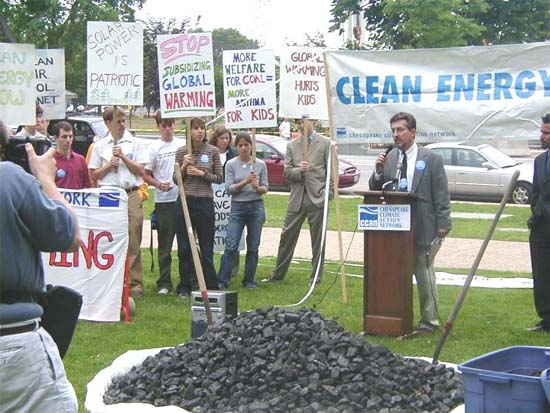 RPCV Mike Tidwell and the Chesapeake Climate Action Network to Dump Coal on Campus Lawn to Protest W. Virginia Gov's Coal Plans