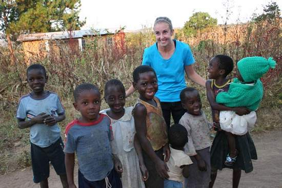 Jenna Mitchler is a team player in the American Peace Corps in Emfeni in the Republic of Malawi, located in the southeastern part of Africa near the Zambian border