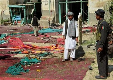 Morocco RPCV James Rupert writes: A bombing in a Kandahar mosque killed at least 20 people Wednesday, including a top Afghan police official, in the latest and deadliest of a wave of attacks that has underscored Afghanistan's volatility despite U.S. efforts to stabilize the country.