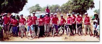 The Annual HIV/AIDS Bike Ride organized by Peace Corps Ghana will end in Jirapa tomorrow Saturday May 15, 2005.