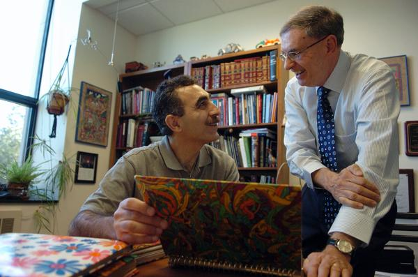 A series of fortuitous circumstances reconnects law prof Norm Aaronson with Iranians he taught while in the Peace Corps