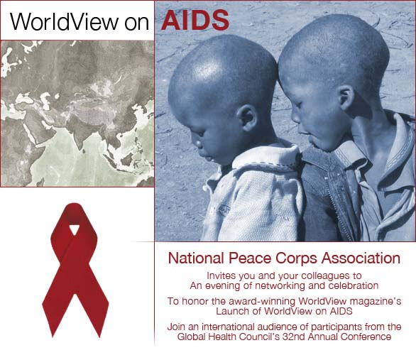 Join the NPCA in Washington DC on May 31 to honor Worldview's Special Issue on AIDS