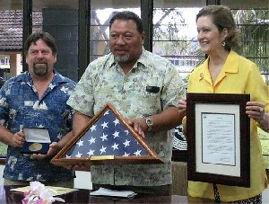 Peace Corps Deputy Director Olsen visits Pohnpei