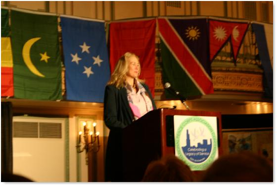 Linda Baumann spoke as the Conference Sponsor