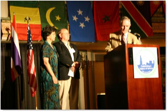 Former Peace Corps Director Kevin O'Donnell presents Ruppe Award