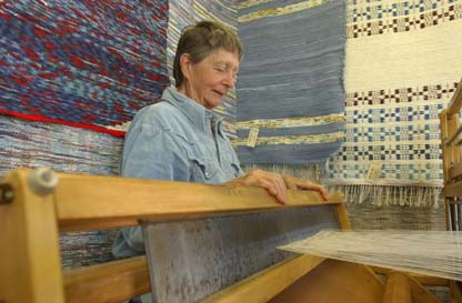 Philippines RPCV Ora Jacobson produces art at her home and studio