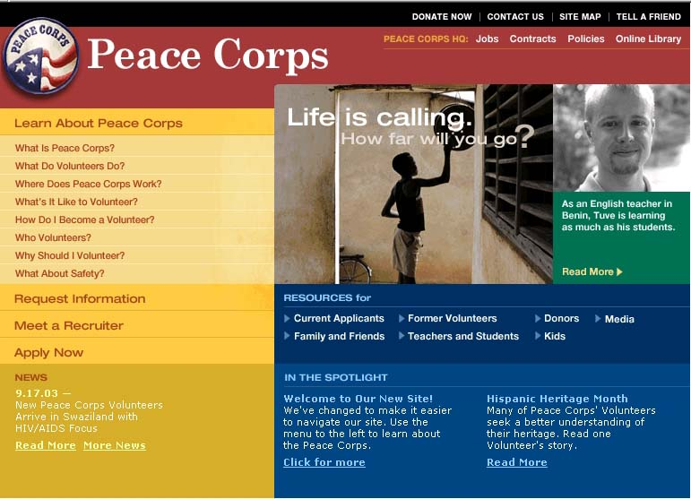 BBDO wins EFFIE Awards for Peace Corps: Life is Calling.  How Far Will You Go?