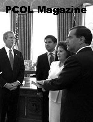 Year 02 Issue 04: February 12, 2002: Vasquez sworn in as Director