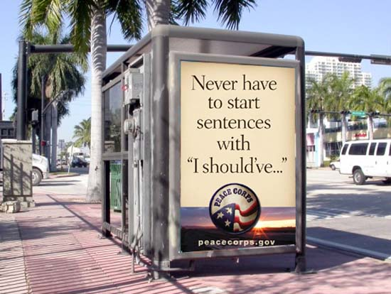 BBDO Introduces Peace Corps to 0utdoor billboards and transit shelters