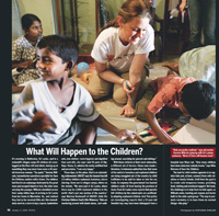 Sri Lanka RPCV Tammie Willcuts' humanitarian work put her in People magazine this week