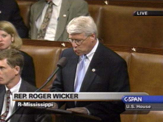 Congressman Roger F. Wicker  says the Peace Corps is strong