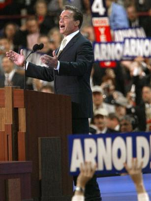 Arnold addreses the RNC