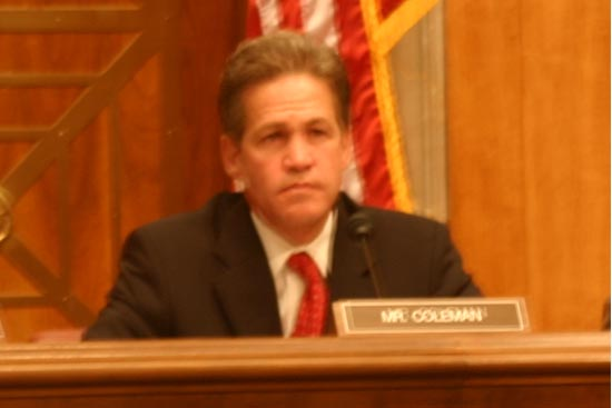 PCOL asks Senator Coleman about his views on the proposed bill