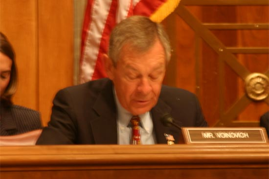 Senator Voinovich made his opening remarks and talked about the in-depth report from the Dayton Daily News and how the reporters spent more than two years interviewing 500 people.   <BR> <BR>&#34;Their findings raise serious questions about Peace Corps safety and security and have compelled us to look close at measures in place to ensure the security of our volunteers.  They have also led us to discuss ways we might enhance these measures.&#34; <BR> <BR>The Senator then talked at length about the disappearance of Bolivia Volunteer Walter Poirier III.