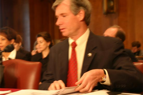 Kevin Quigley, President of the National Peace Corps Association, was the next to testify and talked about the NPCA  and that there are 36,000 members affiliated to the 160 organizations in the NPCA network. <BR> <BR>He said that the NPCA had conducted an online poll that over 250 members responded to and that 72% of those polled said they favored an ombudsman for the Peace Corps. <BR> <BR>Mr. Quigley said that it was split 48% to 47% if Congress should statutorily establish an office of safety and security. <BR> <BR>He said that 90% of the respondents opposed the pairing of volunteers, that  respondents were equally split concerning the independent appointment of the Inspector General, and that 70% favored a study of the five year rule. <BR> <BR>When asked if the respondents had favored the change in the five year rule that is part of this legislation, Mr. Quigley replied that that question had not been asked of the NPCA membership in the poll and that he did not have a response.