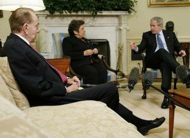 Donna Shalala said she sensed President Bush's fury over reports of shabby treatment of war veterans