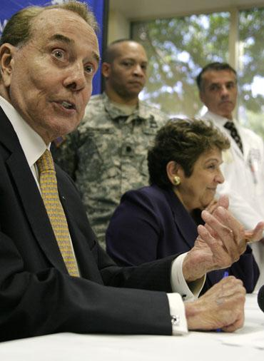 Dole, Shalala tour Miami hospitals before formal investigation begins