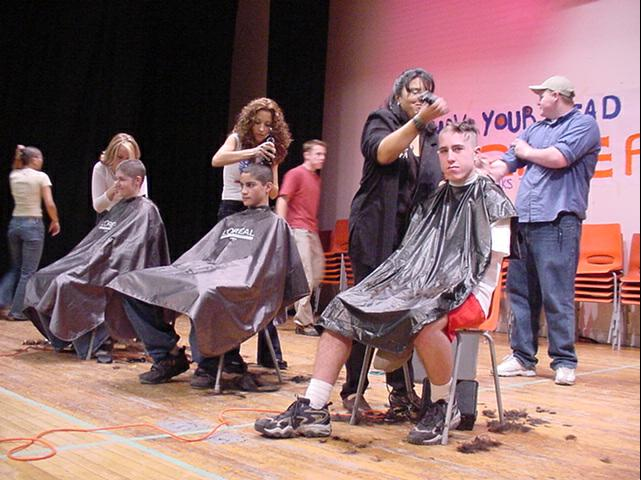 Mark Gearan to be official verifier when close to 100 people get their heads shaved in one hour to snag the Guinness Book of Records record for head shaving for Geneva's annual Relay for Life cancer society fund-raiser