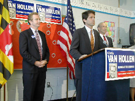 Mark Shriver&#39;s super-strong endorsement of Van Hollen has raised his standing enormously. If I had a dollar for everyone who has said, What a class act, I&#39;d be a wealthy man. Watching the two former rivals campaign together at the Silver Spring Metro, I was struck by how many people recognized Shriver first. But Mark very smoothly and un-self-consciously guided each person over to Chris, saying I&#39;d like you to meet Sen. Van Hollen; I hope you&#39;ll support him.