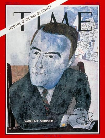On May 13, 1966, Marylander Sargent Shriver made the cover as the point man caught in the Crossfire in the War on Poverty.