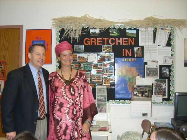 Gretchen Snoeyenbos is finishing her two years of volunteer service with the Peace Corps in Mali