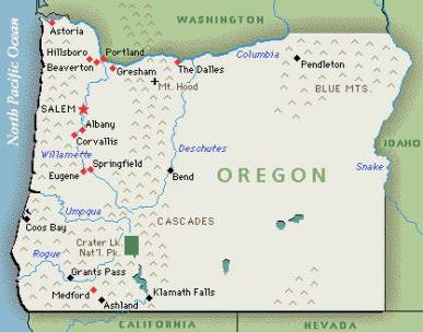 Kenya RPCV  James Cloutier says Welcome to my town as depicted in the latest cartoon poster map of Eugene, Oregon