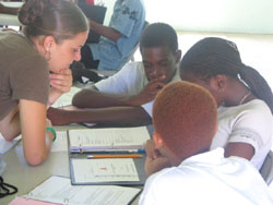 Peace Corps volunteer Stefanie Bachman coordinates AIDS Education Project in St. Kitts
